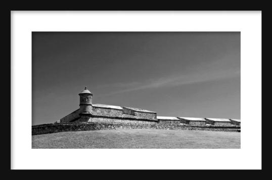 Hilltop Fortress BW Framed