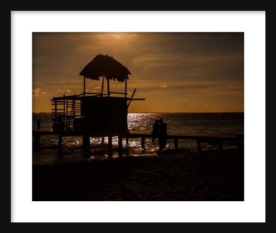 Sunset Lovers Framed