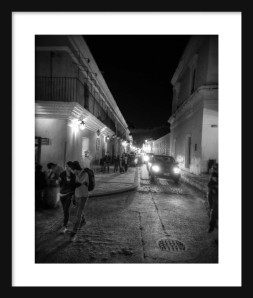 Avenida at Night Framed