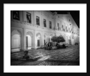 Plaza at Night Framed II