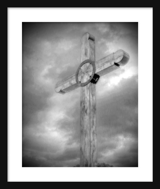 Wooden Cross Framed