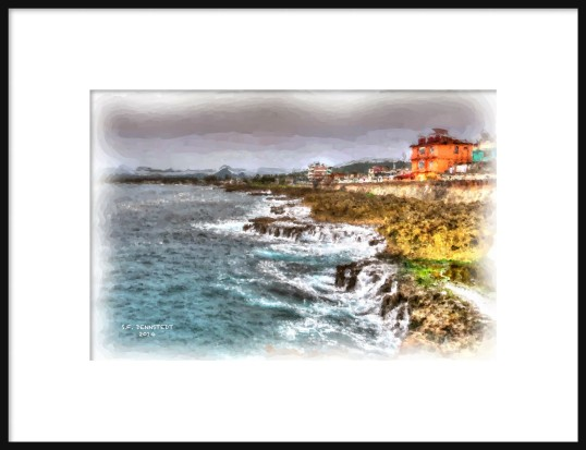 COAST WATERCOLOR FRAMED