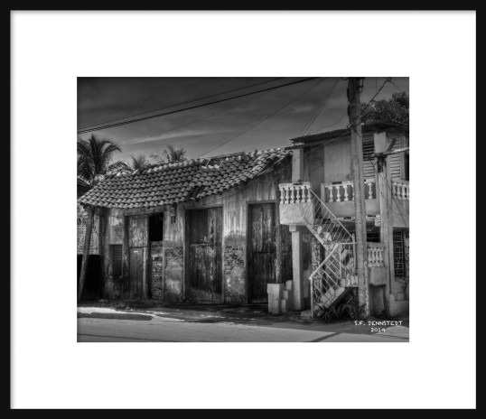 Crazy House BW Framed