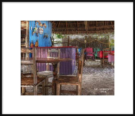 PALAPA MANGLITO BEACH FRAMED
