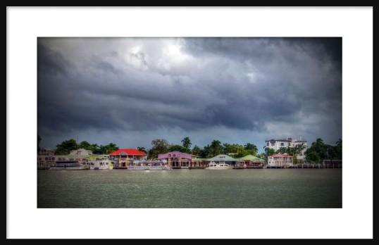 Belize Storm Clouds Framed