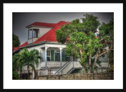 Old House 2 Framed