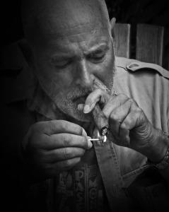 Joel with Cigar 2 BW WEB