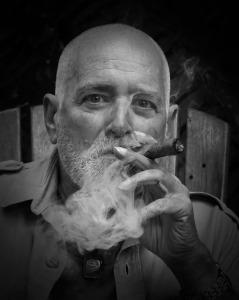 Joel with Cigar BW WEB