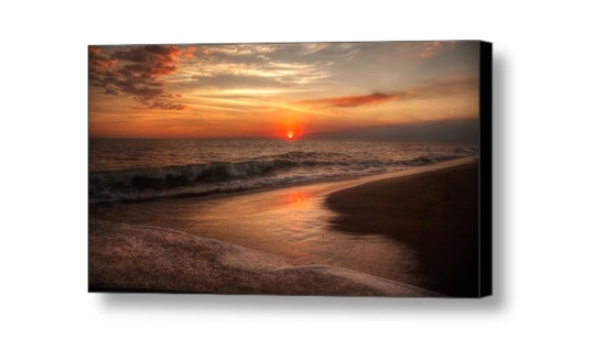 Monterrico Sunset Canvas Print