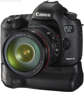 Canon EOS 5D Mark III with BG-E11 Battery Grip and EF 24-105mm f/4L IS USM Zoom Lens