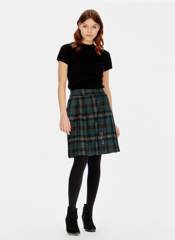 Girls jean skirt and pantyhose
